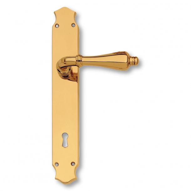 Door handle interior, Brass, Back plate - XX Century - model C09910