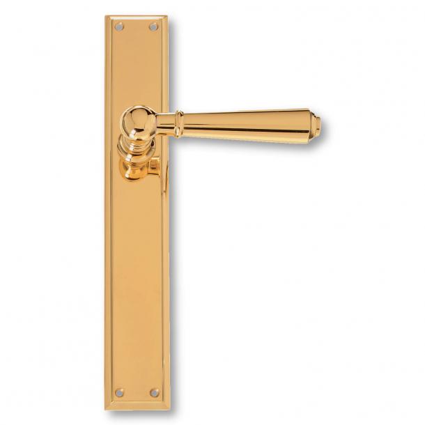 Klamka do drzwi -  Mosiądz - Szyld długi - XX wiek - model C14210