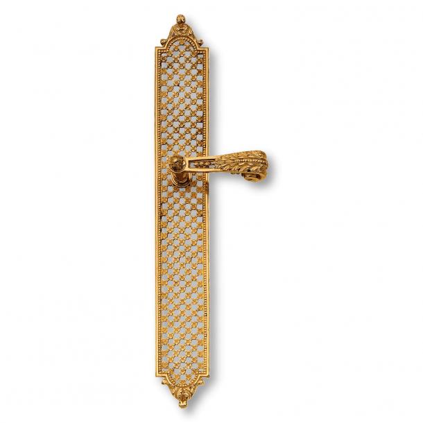Door handle interior - Brass, Back plate - Louis XVI style - model C01610