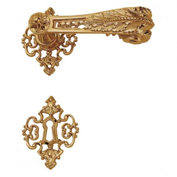 Door handle interior - Brass rosette / escutcheon - Louis XVI style - model C01615