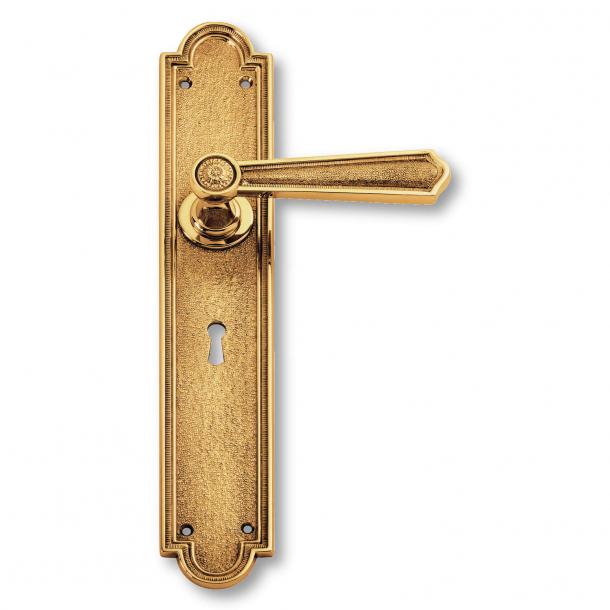 Door handle interior, Brass, Back plate - Second Empire - model C13510