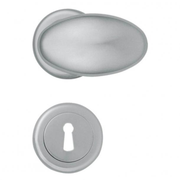 Klamka do drzwi - Chrom satynowany - Enrico Cassina - Model P3000