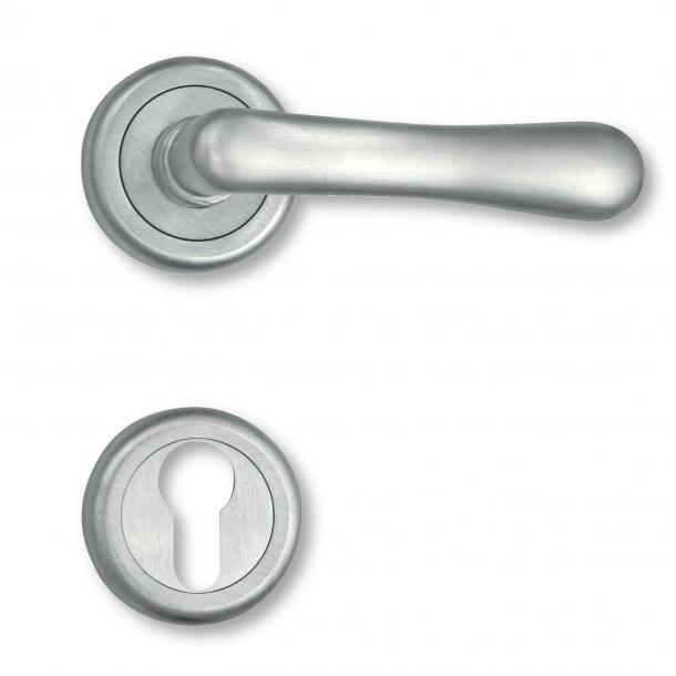 Door handle interior Matt chrome - Rosset and escutcheon - 1930 - 4801-90