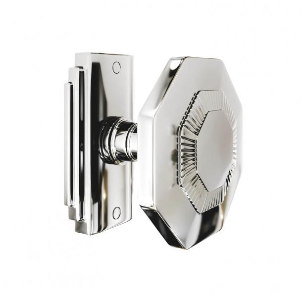 Klamka - 8-kątna - Nikiel polerowany - Model C27800