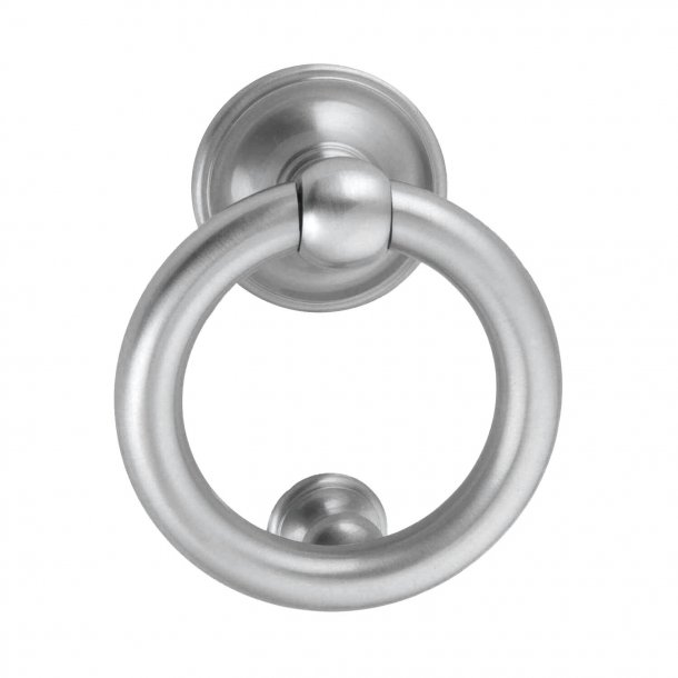 Door knocker Ring 701, Enrico Cassina, Satin Chrome, ø100 mm