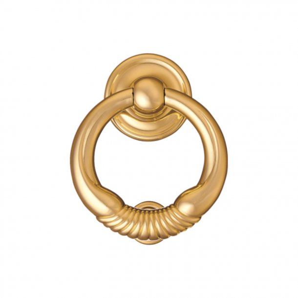 Door knocker Ring 700, Enrico Cassina, Brass, 100 mm