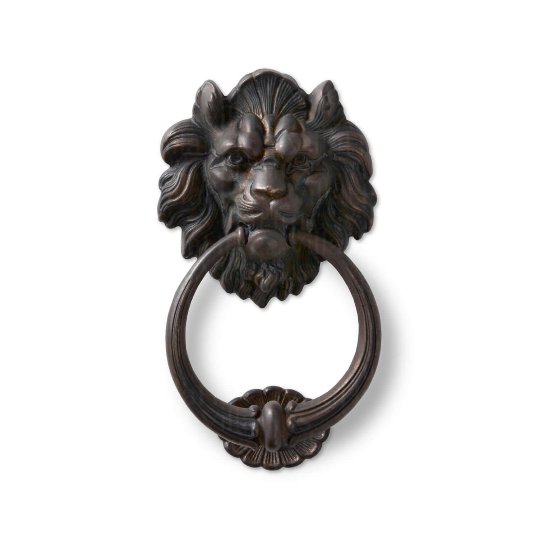 Door Knocker Lions Head 645 Browned Brass ø208 Mm