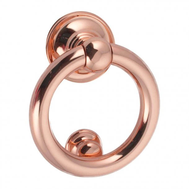 Door Knocker RING, Copper, 100 mm