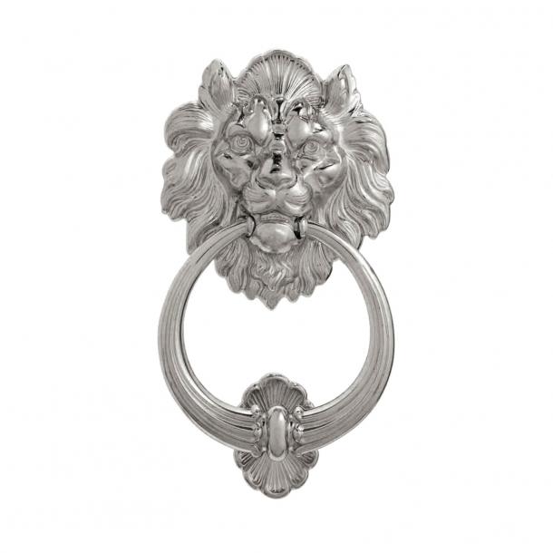 Door knocker, Lion's Head 645, Nickel Plated 110 mm (645-110NP)