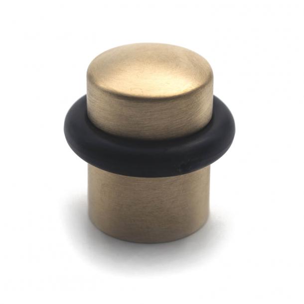 Door stop - Brushed Brass - Black rubber band - 34 mm - Model 1307