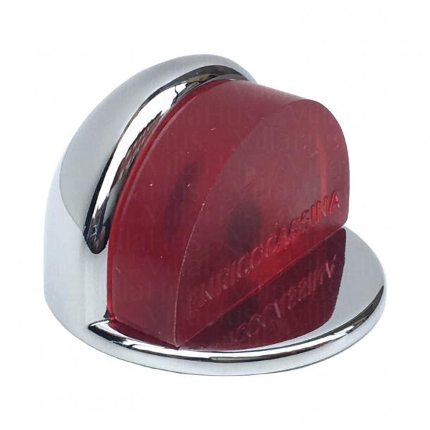 Türstopper 1305 - Chrom und Rot - Low-Modell