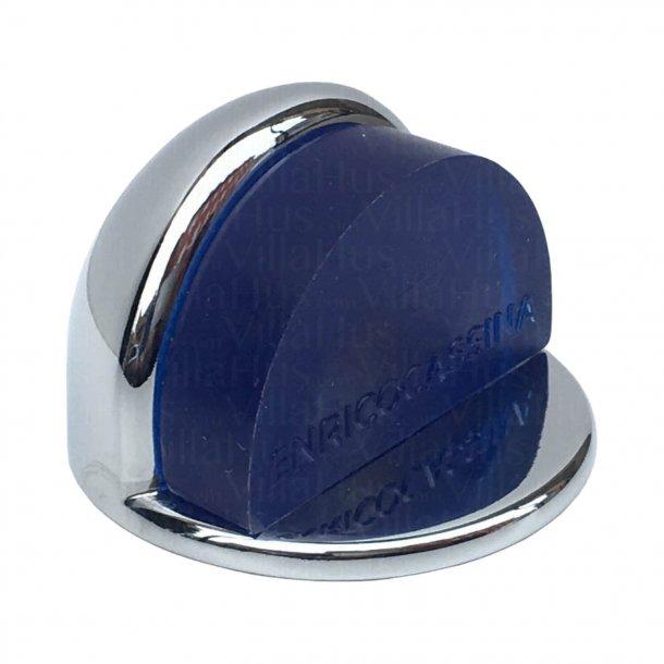 Door stop 1305 - Chrome & blue - Low model