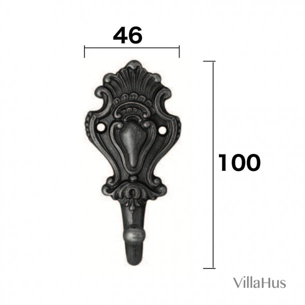 Coat Hook Solid Brass 100 mm, Model 1510
