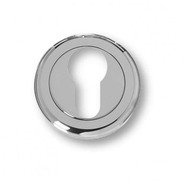 Pierścienie cylindryczne - profil Euro - jasny chrom - 11 mm