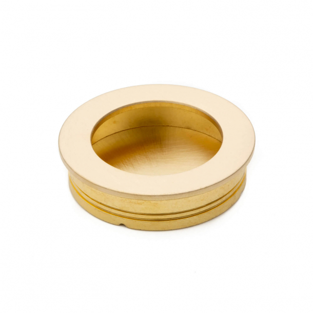 Sliding door bowl - Brushed brass without lacquer - 40x35x10mm