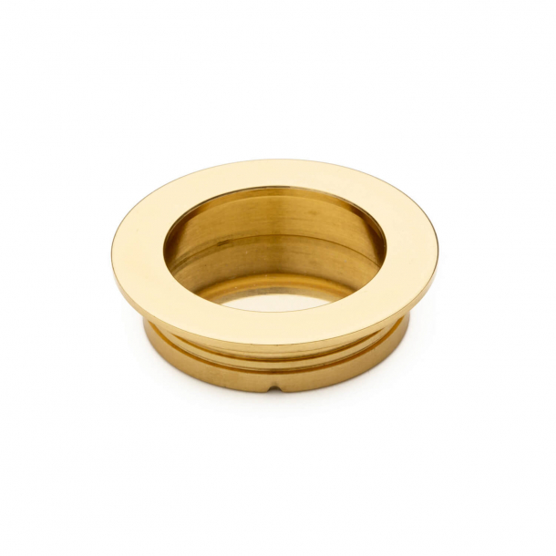 Sliding door bowl - Brass without lacquer - 40x35x10mm