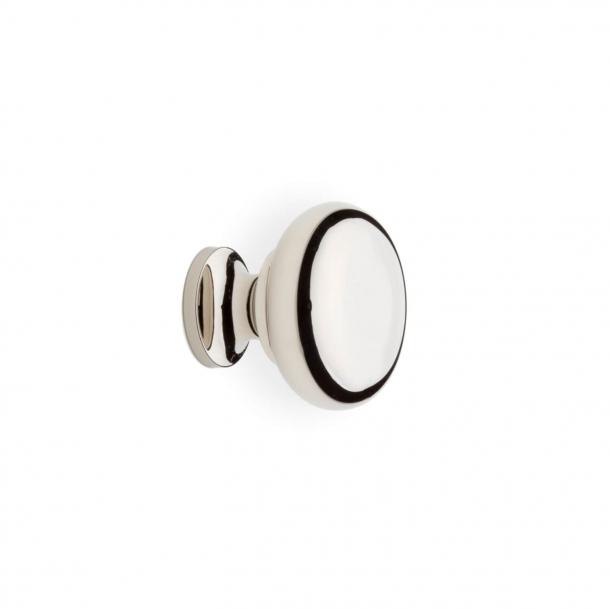 Møbelknop 100 - Poleret nikkel - 20 mm