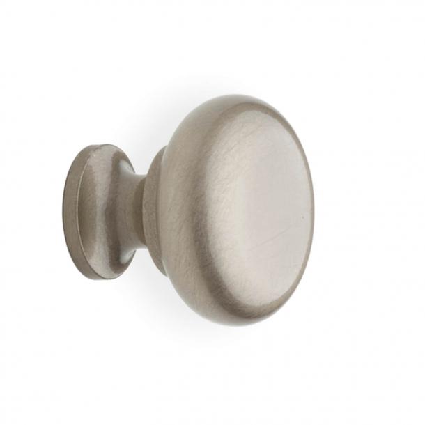 Møbelknop 100 - Børstet nikkel - 31 mm