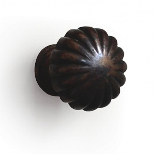 Cabinet knob 168 - Browned brass - Enrico Cassina - 35 mm