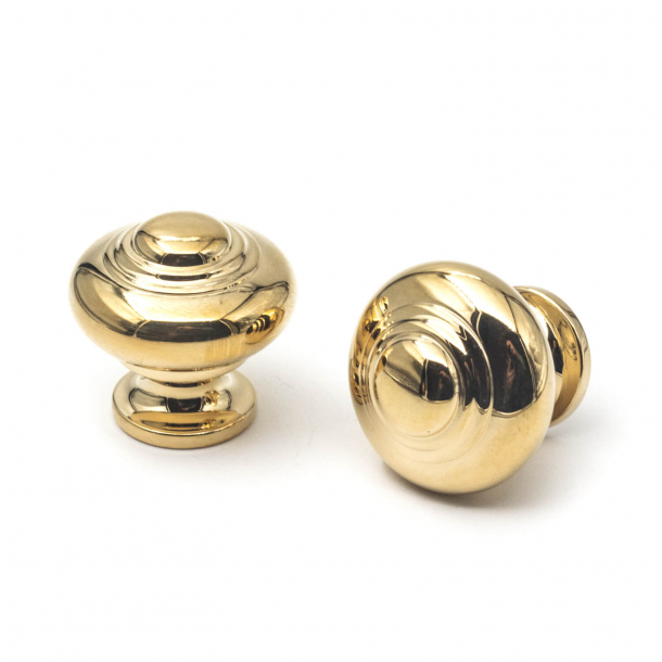 Furniture knob 102 - Brass without lacquer - 30 mm