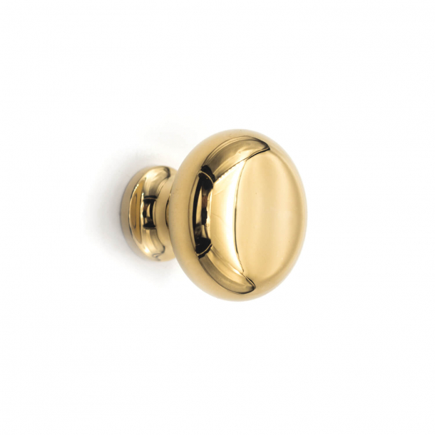 Furniture knob 100 - Brass without lacquer - 20 mm