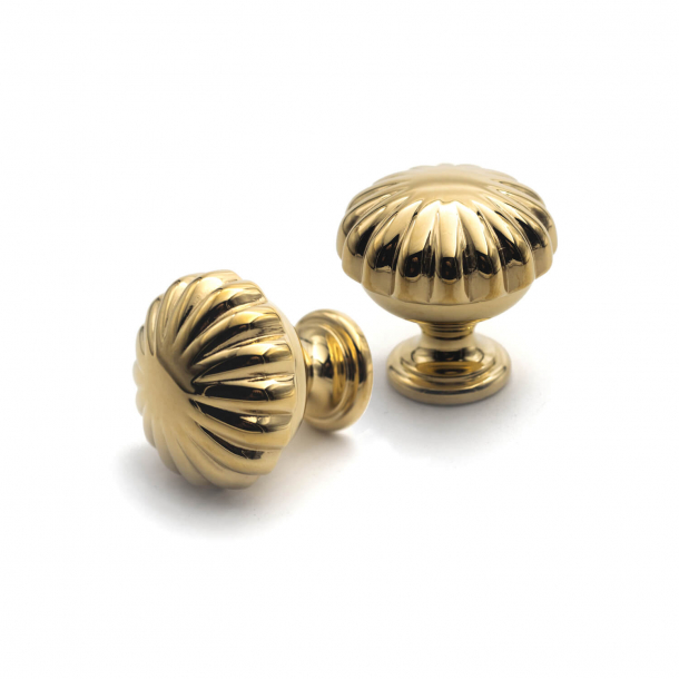 Cabinet knob 168 - Brass without lacquer - Enrico Cassina - 26 mm