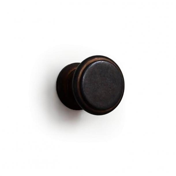 Möbelknopf - Messing gebräunt - Omporro - Modell 160 - 26 mm