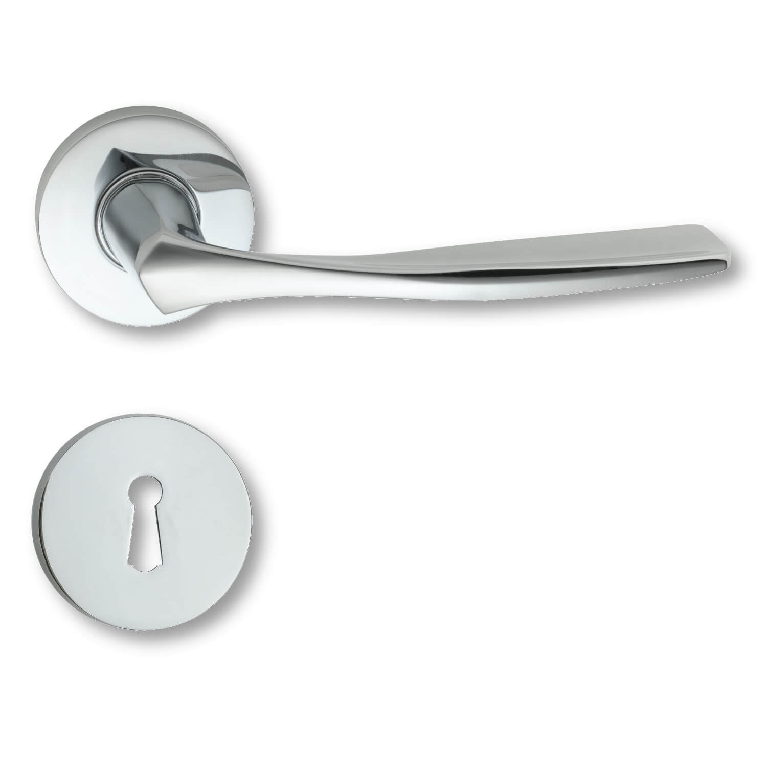 Door handle interior blank chrome rosette and escutcheon for 1950 door handles