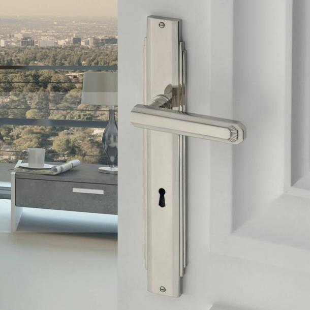 Dørgreb indendørs Nikkel - Art Deco - Langskilt - C17810