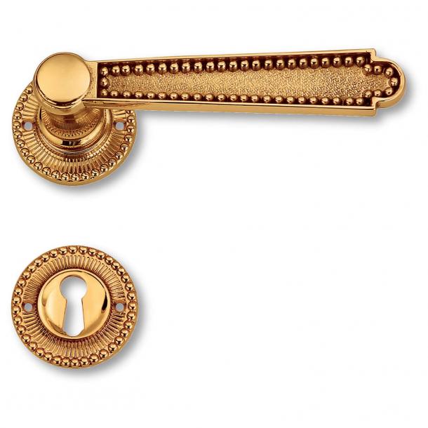 Door handle interior, Brass rosette escutcheon - Second Empire - model C12211