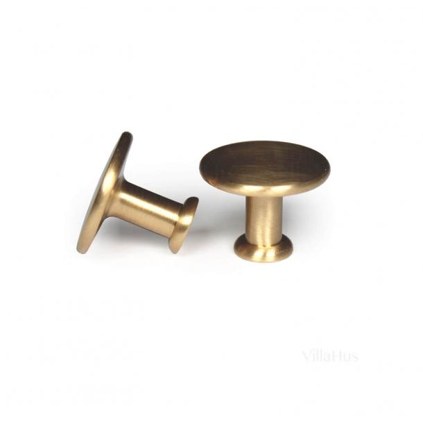 Möbelknopf 101 - Messing gebürstet - 25 mm