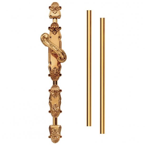 Cremone bolt - Brass - Italian Baroque - Model BARBARA
