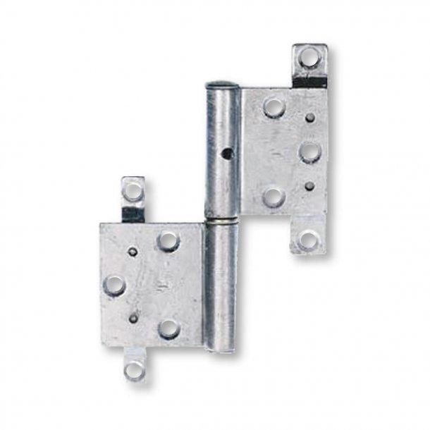 Dørhængsel, Højre - Model 11198 - Blank nikkel