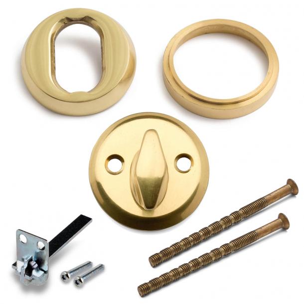 Vridergreb + Universal Cylinderring - Messing - ASSA låse - cc30mm