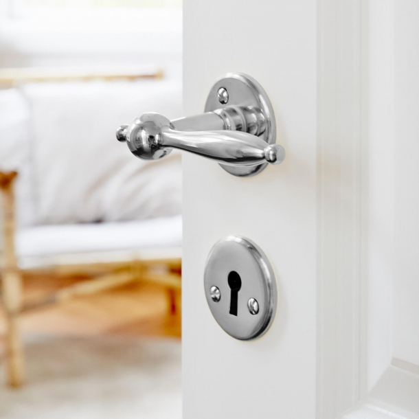 Door handle - Old door handle - Chrome