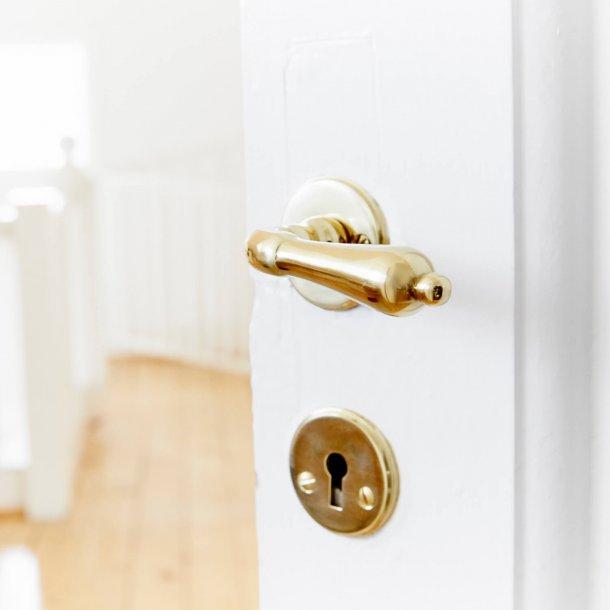 Habo dørgreb - Indvendig inkl. nøgleskilt - Messing - Model A9683