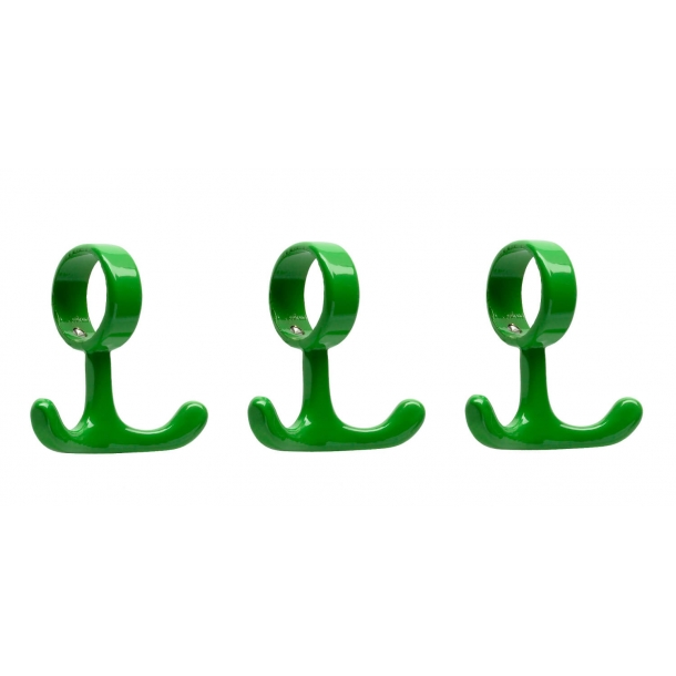 Coat Hooks for tubes - Green - 3 pieces