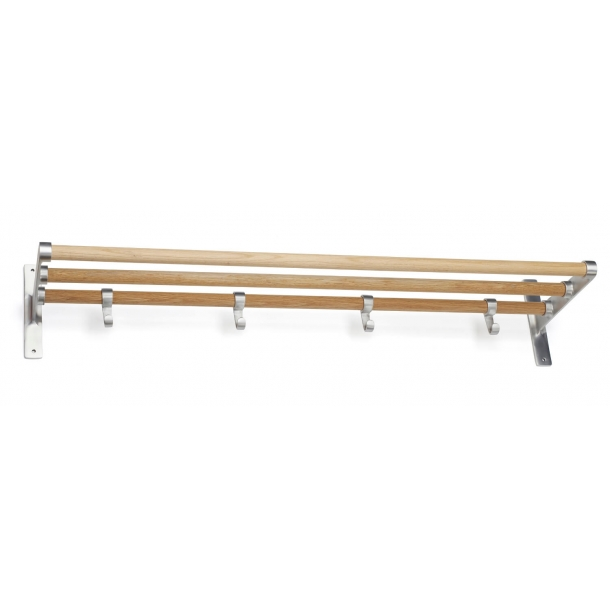 Habo Hutablage - Eiche / Aluminium - Modell ELEGANT
