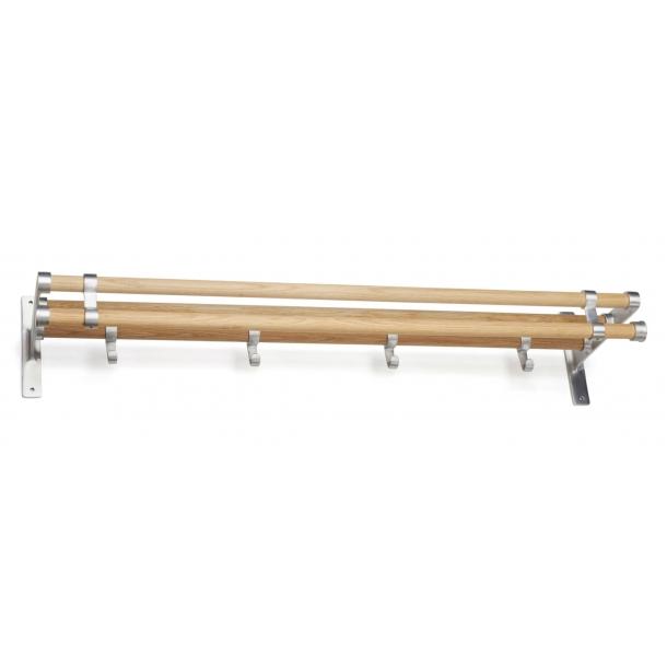 Habo Hutablage - Eiche / Aluminium - Modell ELEGANT PLUS
