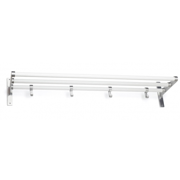 Habo Hat Shelf - White / Aluminum - Model ELEGANT