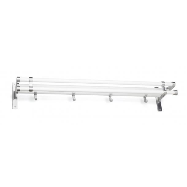 Habo Hutablage - Weiß / Aluminium - Modell ELEGANT PLUS