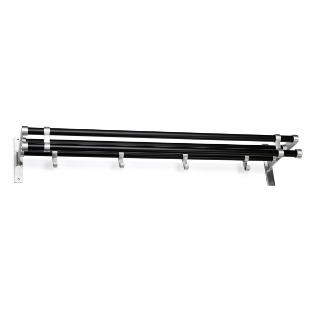 Habo Hat Shelf - Black / Aluminum - Model ELEGANT PLUS