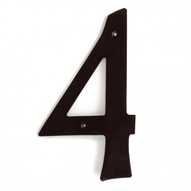 House numbers, Brown oxide Brass, 205 mm, Model 573
