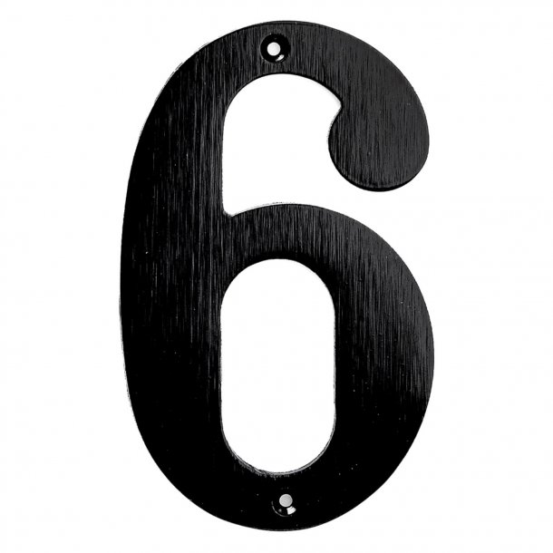 House numbers, Black, 140 mm, Model 572