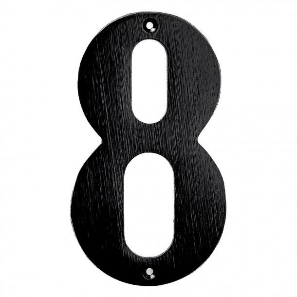 Hausnummern, Schwarz, 140 mm, Modell 572