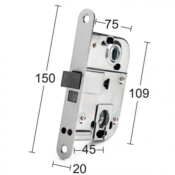 Habo Türschloss Interieurraum für Zylinder oder Daumen drehen