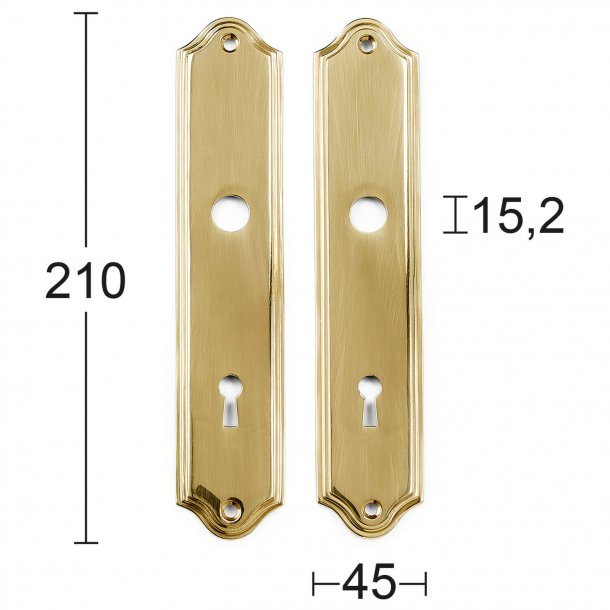 Back plate with key hole - Brass with lacquer