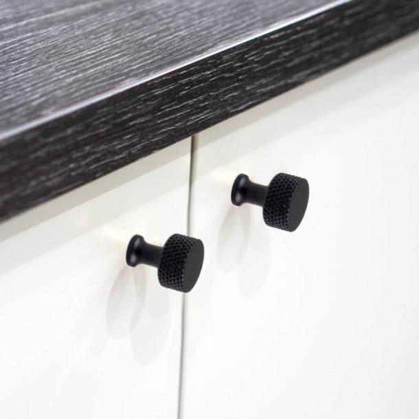 Furniture knob - Lexington - HABO - Black - 20 mm