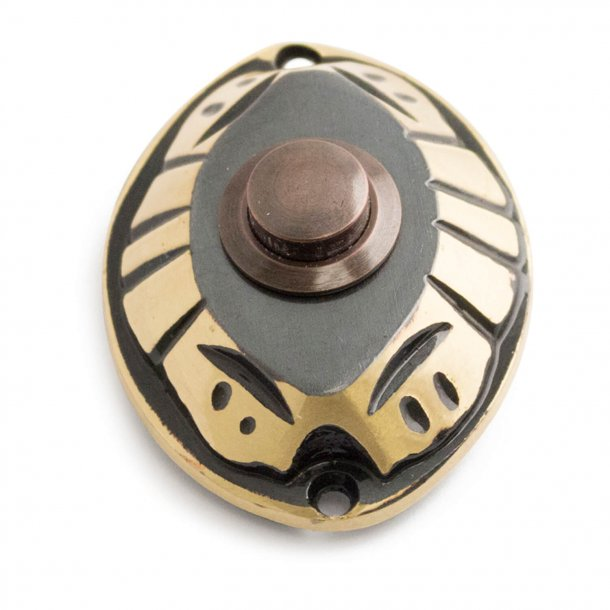 Bell push - Antique brass - Model 543