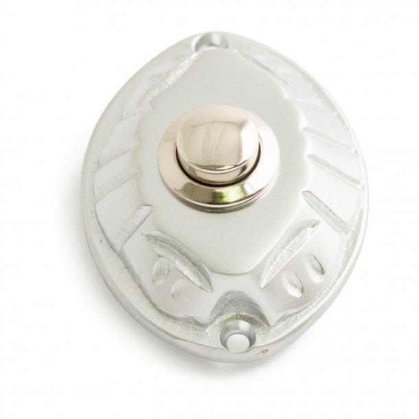 Przycisk dzwonka - chrom satynowany - model 543